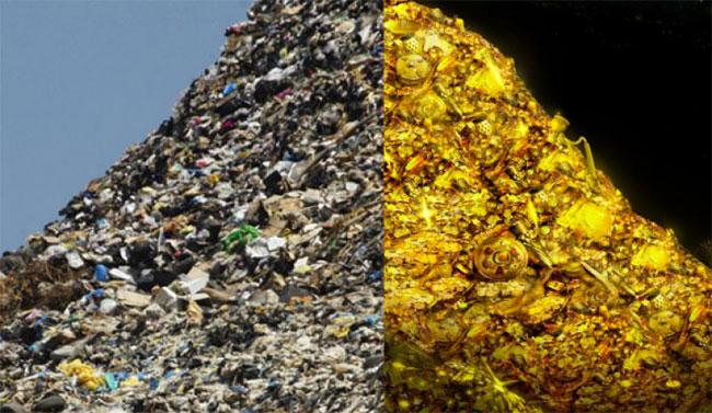 Cứ 1 tấn smartphone rác, người ta sẽ thu được khoảng 350 gam vàng.