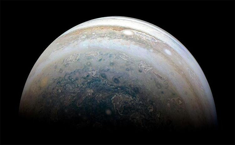 Ảnh chụp bán cầu Nam của Sao Mộc từ một tàu vũ trụ của NASA