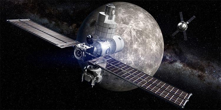 Một ý tưởng thiết kế trạm không gian trên quỹ đạo Mặt trăng