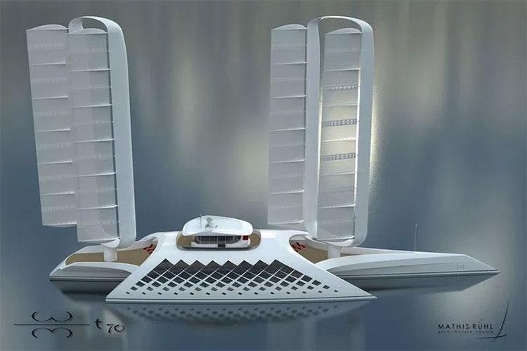 Hình ảnh concept siêu du thuyền Wind Motion.