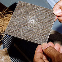 Vật liệu hãm xung ôtô tạo ra từ phế thải cây chà là