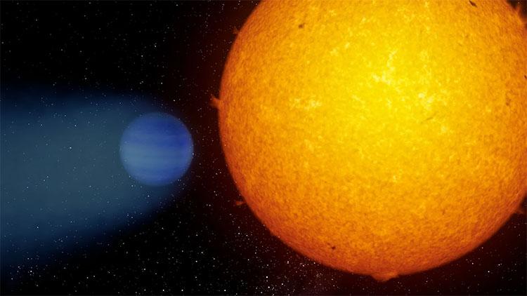 Hành tinh này dường như đã mất bầu khí quyển và tự hào có một đuôi khí helium giống như sao chổi.
