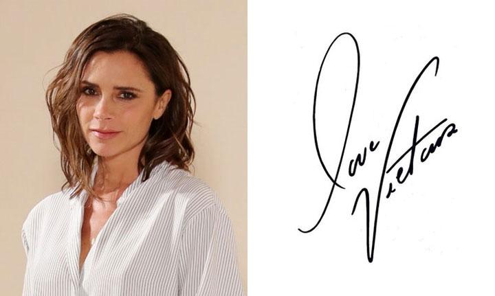 Chữ ký của Victoria Beckham.