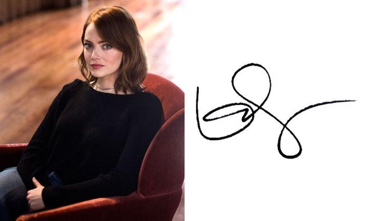 Chữ ký của Emma Stone.