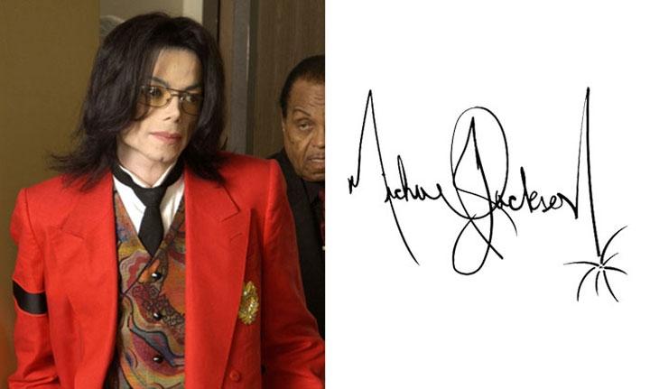 """Chữ ký của """"Ông hoàng nhạc Pop"""" Michael Jackson."""