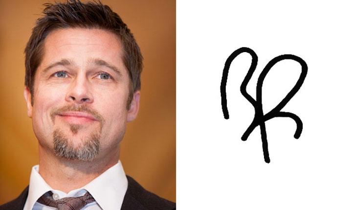 Chữ ký của Brad Pitt đơn giản đến không ngờ...