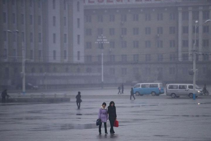 Quang cảnh quảng trường Kim Il Sung ở thủ đô Bình Nhưỡng của Triều Tiên