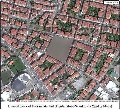 Các địa điểm bị làm mờ trên Yandex Maps chắc chắn mang một chức năng quân sự.