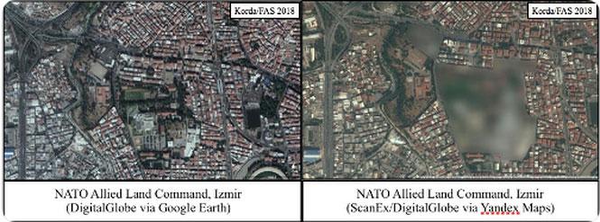 So sánh hình ảnh từ Google Earth và Yandex Maps.