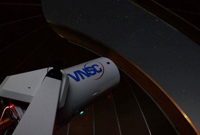 Toàn cảnh Đài thiên văn Hà Nội, đặt tại Khu Công nghệ cao Hòa lạc.