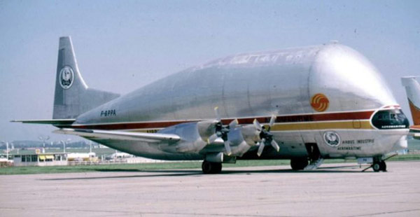 Super Guppy Turbine F-BPPA tại sân bay Paris–Le Bourget vào năm 1981