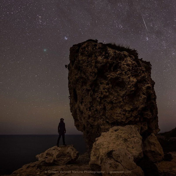 Nhiếp ảnh gia Gilbert Vancell ghi lại hình ảnh bầu trời đêm