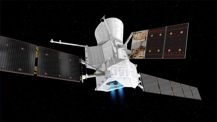 Đồ họa mô phỏng sứ mệnh BepiColombo thăm dò sao Thủy được vận hành bằng năng lượng chạy điện ion
