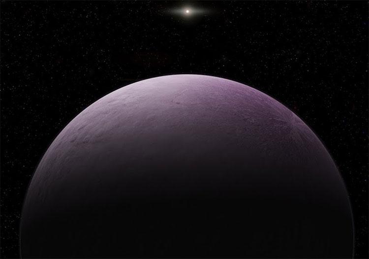 Minh họa thiên thể màu hồng 2018 VG18.