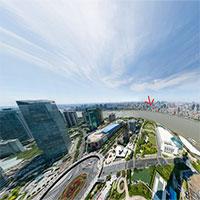 Bức ảnh chụp toàn cảnh thành phố Thượng Hải, zoom được tận mặt người đi đường