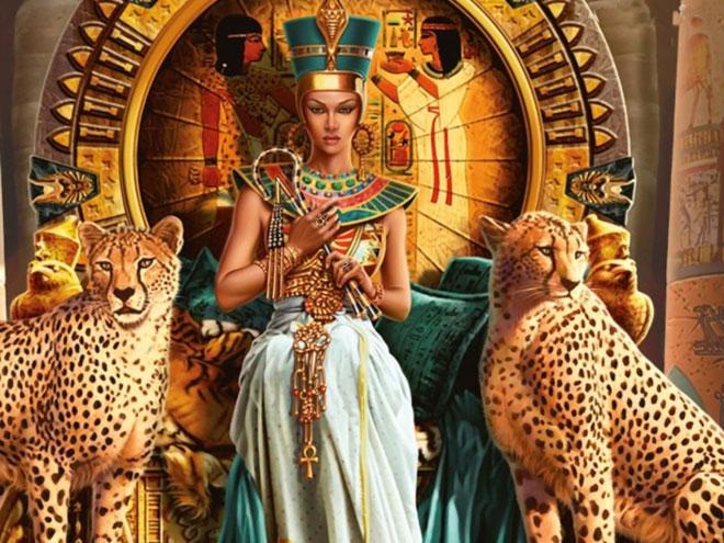 Nữ hoàng Cleopatra có vẻ đẹp nghiêng nước nghiêng thành.