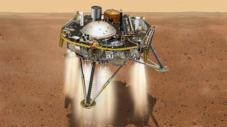 """Tàu thăm dò InSight """"tiếp đất"""" thành công trên bề mặt sao Hỏa."""