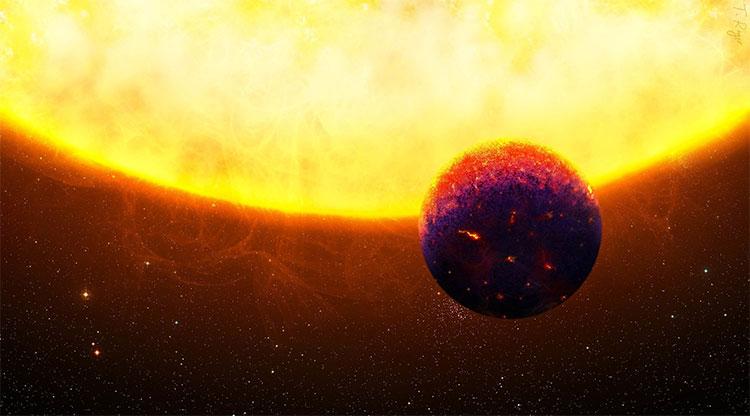 Hình ảnh mô phỏng hành tinh đá quý HD219134 b. (Ảnh: Đại học Zurich).