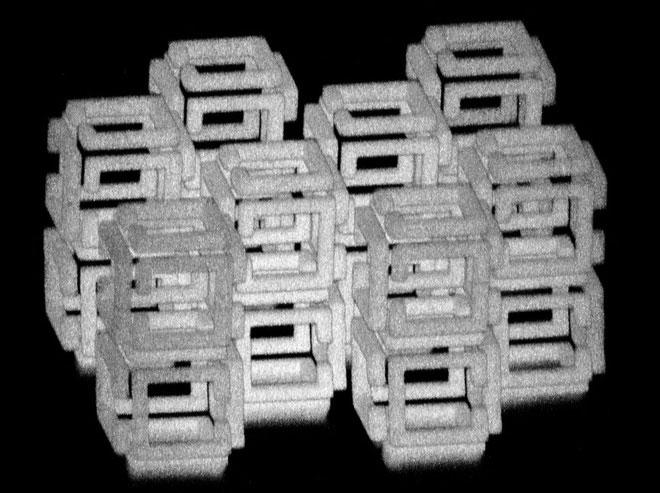 Đây là cấu trúc 3 chiều trước khi được thu nhỏ lại.