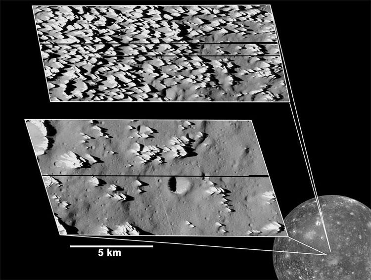 Những ngọn núi băng ở Callisto