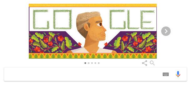 Doodle của Google hôm nay là một slideshow để tôn vinh cuộc sống và di sản của Murlidhar Devidas Amte