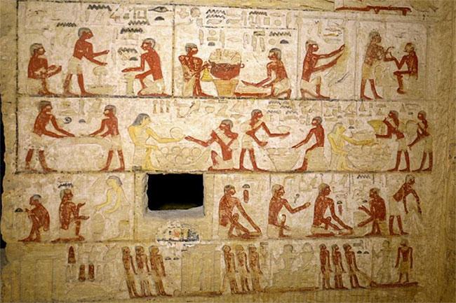 Cảnh sinh hoạt thường ngày trên bức phù điêu cho thấy suy nghĩ của người Ai Cập cổ đại về cuộc sống sau cái chết.