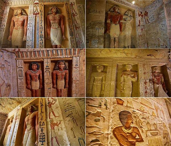Những bức tượng điêu khắc, những bức phù điêu và chữ tượng hình vẫn còn được giữ nguyên vẹn hàng nghìn năm