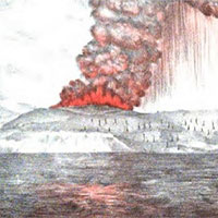 Vụ phun trào núi lửa mạnh gấp 10.000 bom hạt nhân, khiến 37.000 người chết
