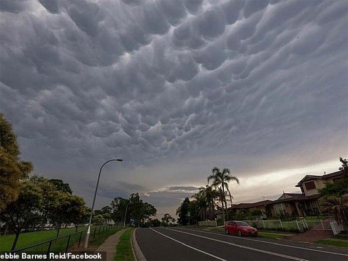 Đám mây kỳ lạ xuất hiện ở bầu trời Australia.