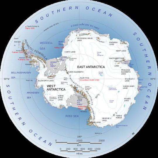 Nam Cực đã tự tạo nên con đường độc đáo này để các dòng chảy băng lưu thông dễ dàng