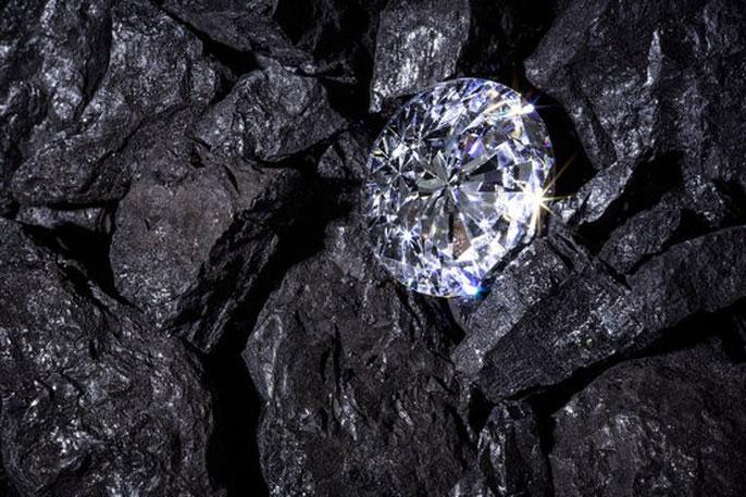 Kim cương dưới lòng đất