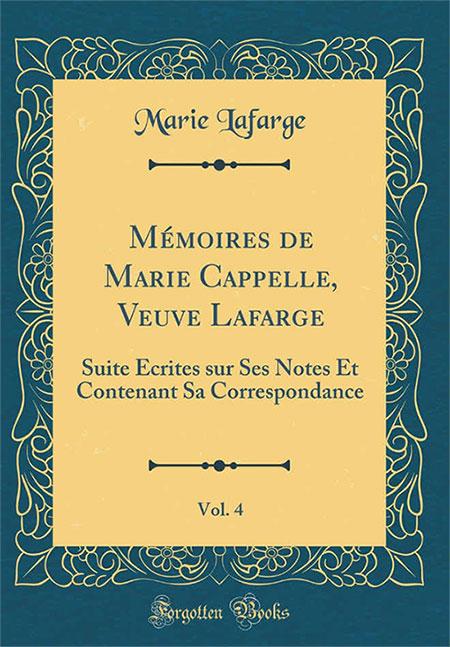 Cuốn Mémoires mà Marie Cappelle viết trong tù.