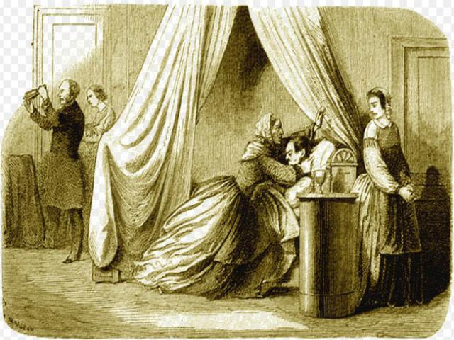 Bức tranh về vụ đầu độc chồng của Marie.