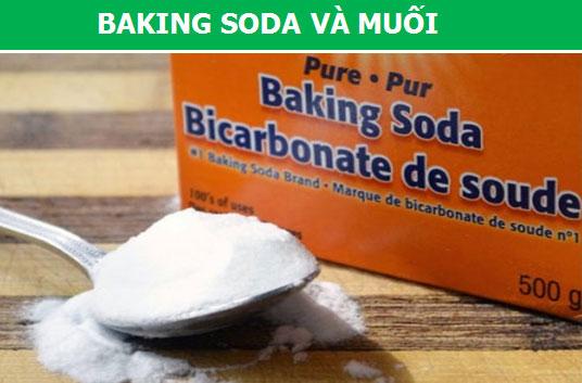 Baking soda và muối