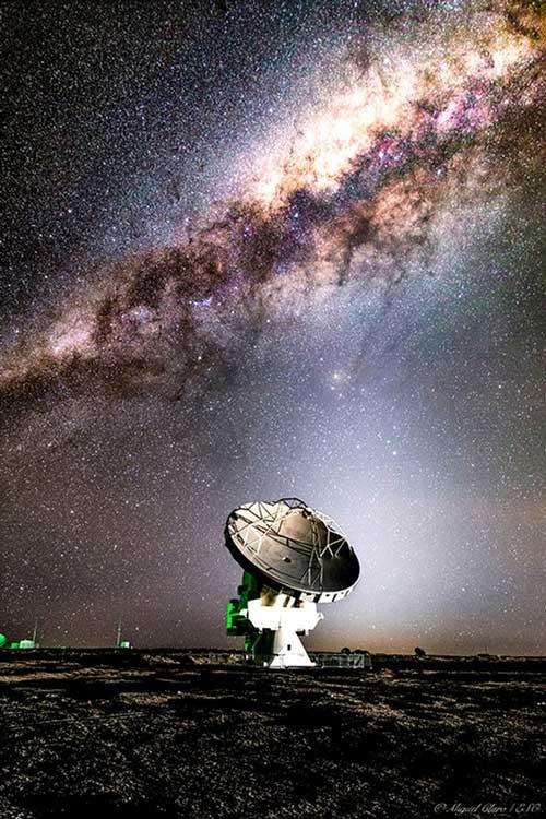 Ảnh do nhà thiên văn Miguel Claro chụp qua kính thiên văn ALMA