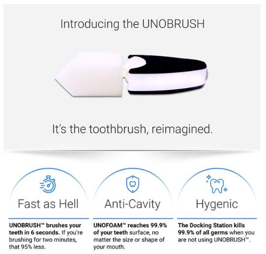 Đây là UNOBRUSH và các tính năng cơ bản của nó, nhấn mạnh vào nhanh và sạch.