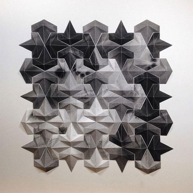 Matt Shlian cho biết anh đã học hội họa, biểu diễn, âm thanh, gốm sứ... và cũng rất thích hình học.