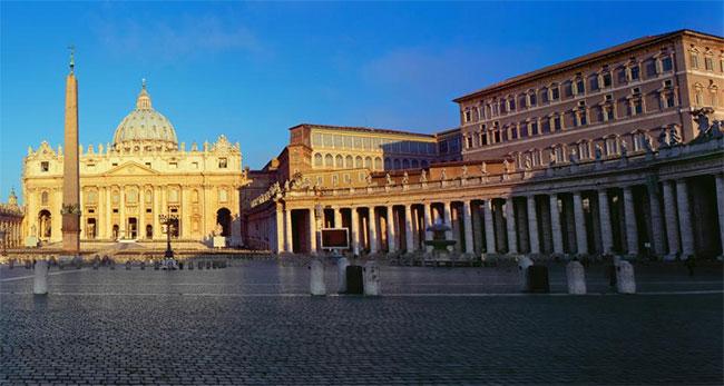 Khu vực quảng trường Thánh Peter trong địa phận Vatican.