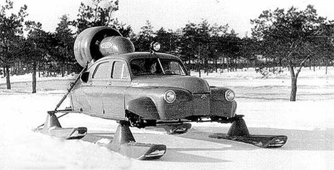 """Những chiếc """"Sever-2"""" vẫn vun vút phóng đi trên tuyết."""