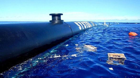 Bức ảnh rác thải bị Ocean Cleanup thu gom được Slat đăng trên trang Twitter cá nhân