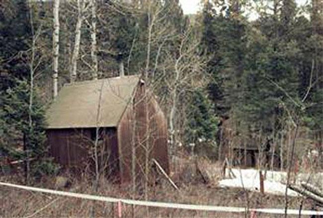 Túp lều của Kaczynski ở phía bắc Montana.