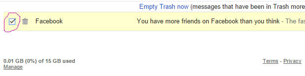 Các bạn check vào những email mà mình muốn phục hồi (có thể chọn nhiều email)