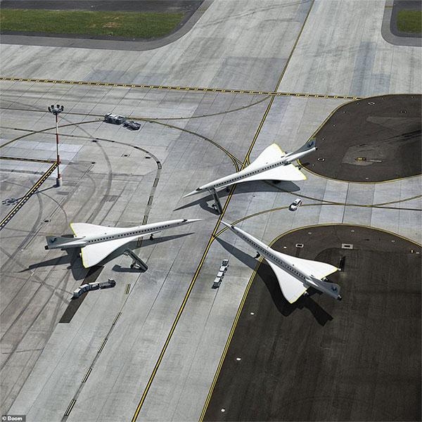 Máy bay Overtune có tiếng nổ siêu thanh nhỏ hơn nhiều so với Concorde.