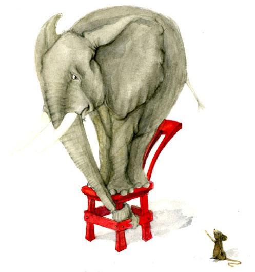 Thực chất thì voi không hẳn sợ, mà chỉ là chúng cảm thấy giật mình vì chuột đột nhiên xuất hiện.