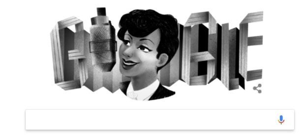 Google Doodle kỉ niệm ngày sinh của Evelyn Dove.