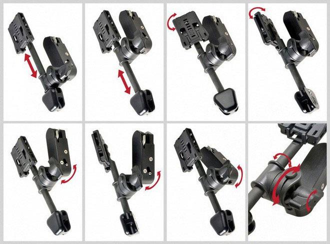 Kẹp giữ súng Ichiro Holster Hanger có rất nhiều tùy chọn để điều chỉnh.