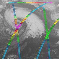 Vệ tinh bất ngờ quay được cảnh cơn bão khổng lồ đang hoành hành Thái Bình Dương