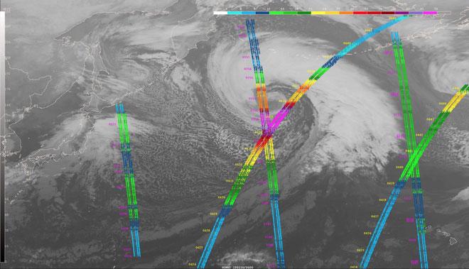 Cơn bão tạo ra sóng cao 17m.