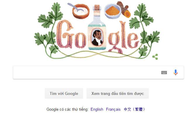 Google doodle thay đổi để tôn vinh Sake Dean Mahomed.