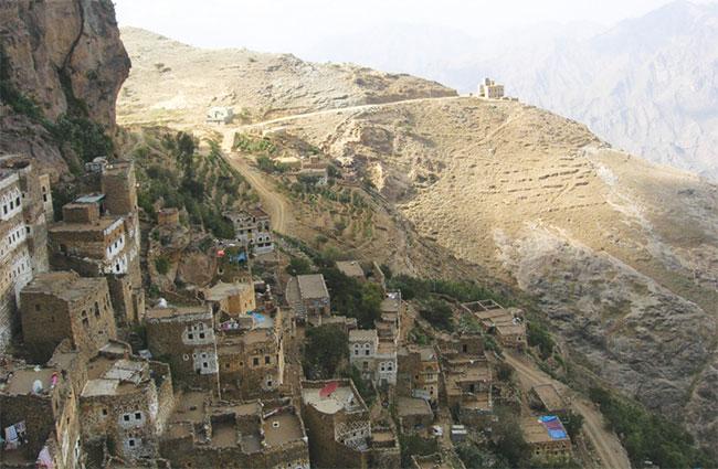 """Phố núi"" kiểu Yemen."